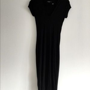 Long Black T-Shirt Dress